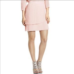 VINCE CAMUTO Pleated Pale Pink Skirt
